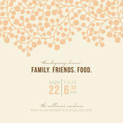 Family. Friends. Food