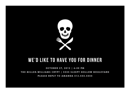 party invitations - Skull and Crossware by Kim Dietrich Elam