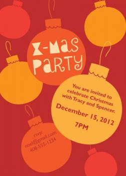 Deck the Halls Party Invitations