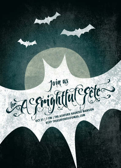 party invitations - frightful fête by Guess What Design Studio