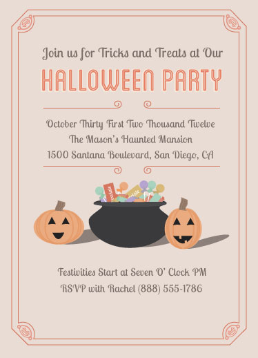 party invitations - Tricks & Treats by Michelle Calderon