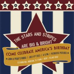 Stars and Stripes Party Invitations