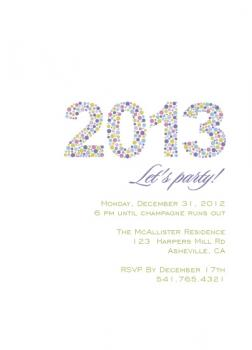 Dotted Year Party Invitations