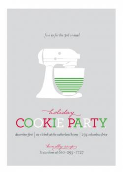 Annual Cookie Party Party Invitations