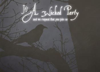 Wicked Halloween Party Invitations