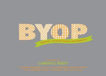 BYO Pumpkin Party Invitations