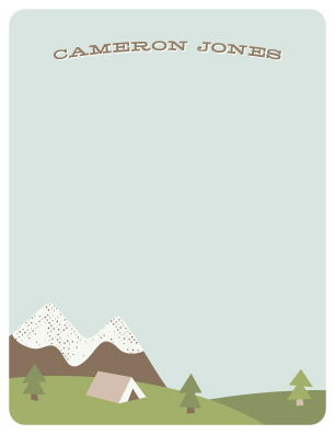 personal stationery - Gone Camping by Amber Barkley