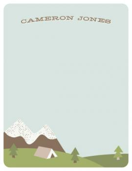 Gone Camping Personal Stationery