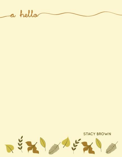 personal stationery - Foliage by Anupama