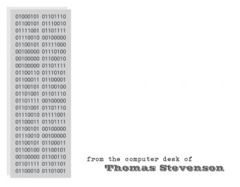 Binary Code Personal Stationery