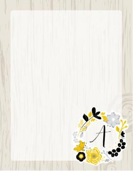 Floral Woodcut Personal Stationery