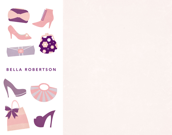 personal stationery - fashionista by lena barakat