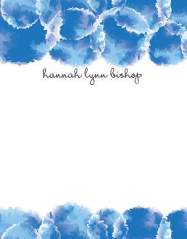 Dreaming in Blue Personal Stationery