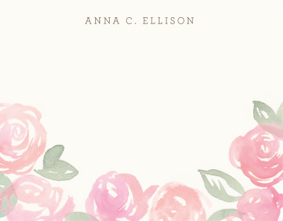 personal stationery - Wild Roses by Laura Condouris