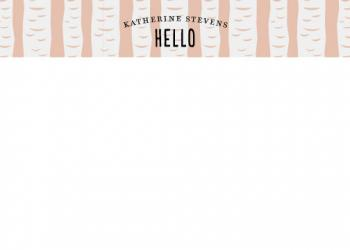 Blushing Birch Personal Stationery