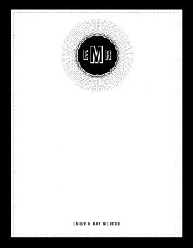 Black Starburst Personal Stationery