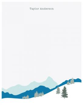 Rolling Hills Personal Stationery