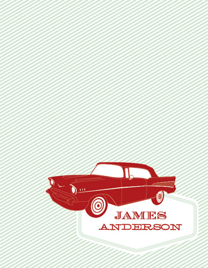 personal stationery - '57 Chevy by Cheer Up Press