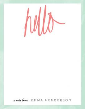 Scripted Hello Personal Stationery