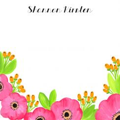 Bright Anemone Flowers Personal Stationery