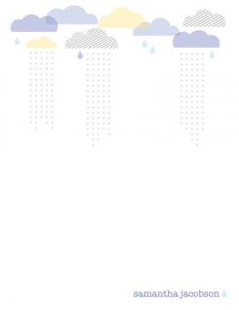 Rain Clouds Personal Stationery
