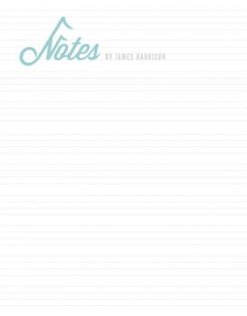 Musical Notes Personal Stationery