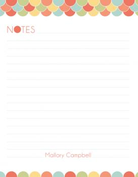 Summertime Notes Personal Stationery