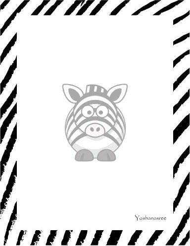 personal stationery - Zebra by Pirediba Parameswaran