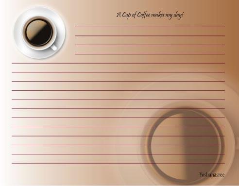 personal stationery - Coffee day by Pirediba Parameswaran