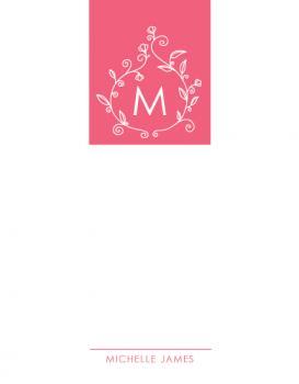 Hot Pink Monogram