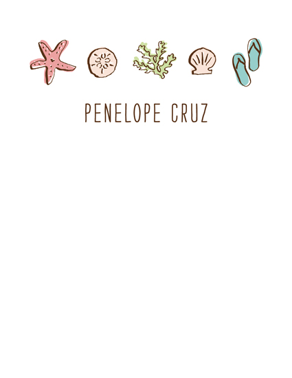 personal stationery - a day at the beach by Waui Design