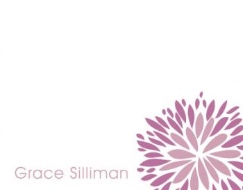 Floral Stem Personal Stationery