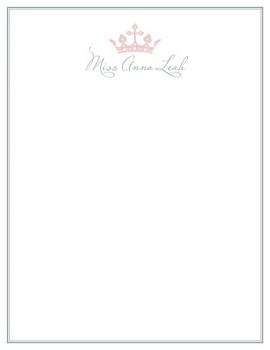 Little Princess Personal Stationery