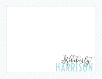 Trellis Blue Personal Stationery