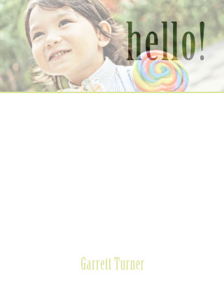 personal stationery - Hello Lollipop