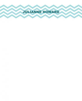 blue chevron Personal Stationery