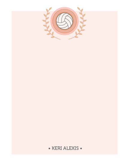 personal stationery - Volleyball Champion by Ashley Dally