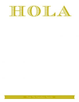 Hola Personal Stationery