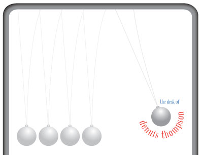 personal stationery - Newton's Cradle by 5Ns