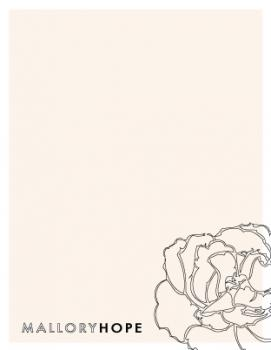 Floral Ouline Personal Stationery