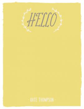Hello Laurel Personal Stationery