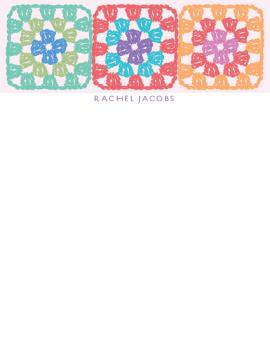 Granny Squares Personal Stationery