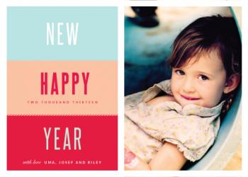 Peachy keen New Year's Cards