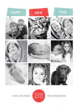 Year of Photos New Year's Cards