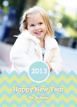 Chevron New Years New Year's Cards