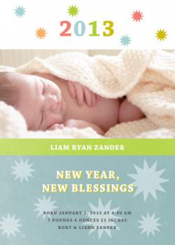New Year's Blessings New Year's Cards