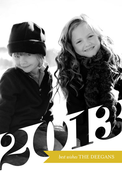 new year's cards - Big 2013 by Erin Deegan