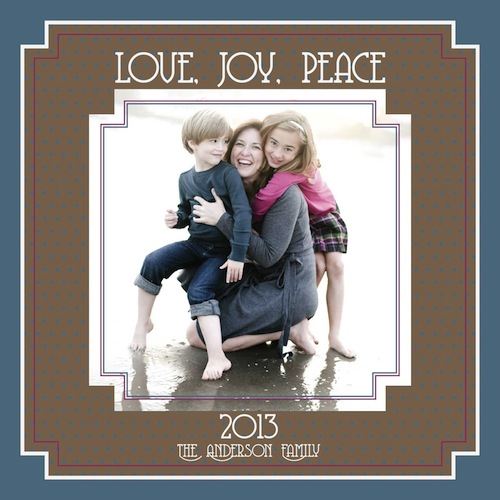 new year's cards - Love, Joy, Peace by Goldenberry Paper