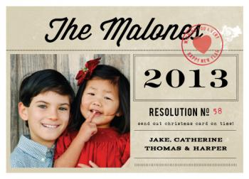 the resolution New Year's Cards
