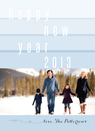 new year's cards - new year line up